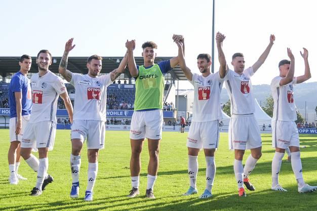Beim Stand von 0:4 muss sich der FC Wohlen geschlagen geben und als Verlierer vom Platz gehen.