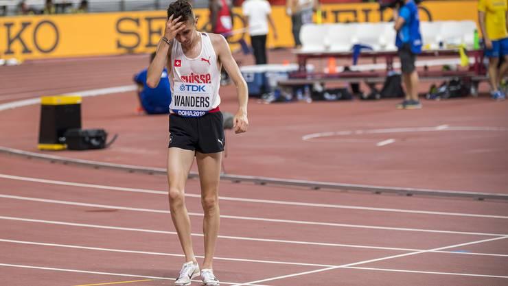 Es ist nicht seine WM: Julien Wanders muss den Final über 10000 Meter aufgeben.