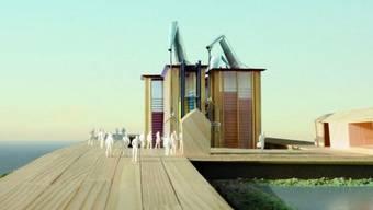 Modell des Pavillons (Quelle: EDA, Präsenz Schweiz und netwerch)