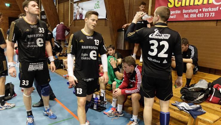 Die Badener NLB-Handballer konnten mit dem Punktgewinn nicht zufrieden sein.