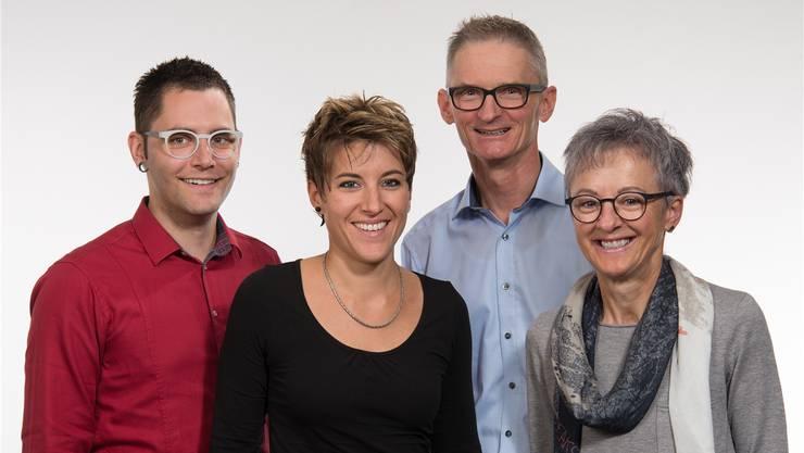 Die neuen und die scheidenden Geschäftsinhaber von links: Richard und Denise Hausmann, Toni und Rosmarie Mohyla.