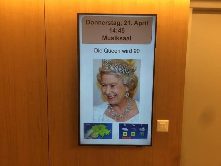 Im Altersheim ist die Queen ebenfalls Thema.