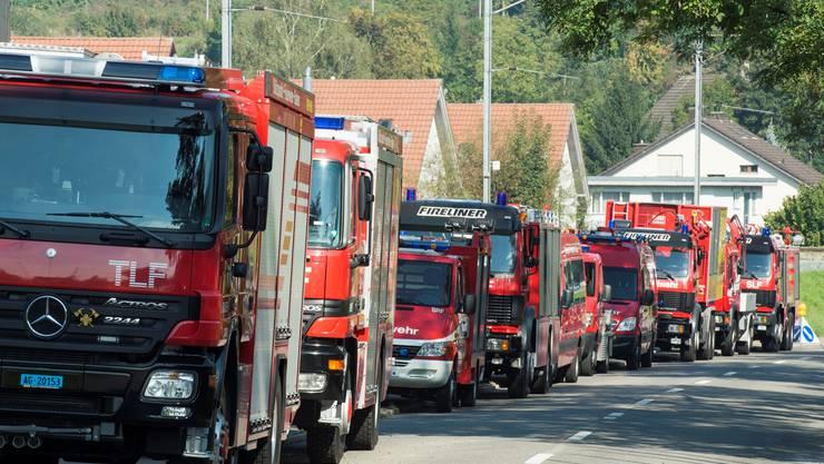 Die Fahrzeuge der Stützpunktfeuerwehr.