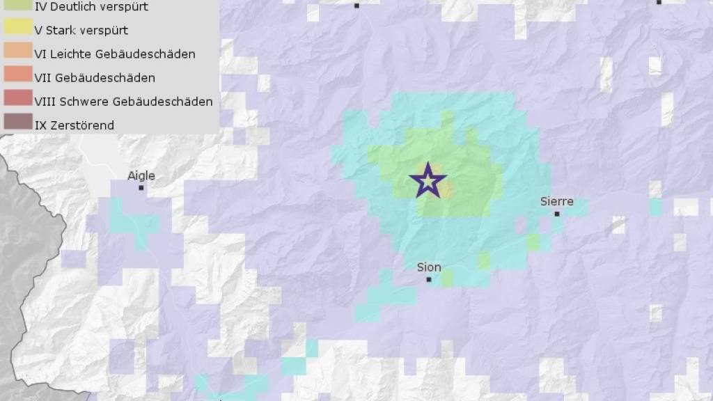 Mehrere leichte Erdbeben haben sich in der Nacht auf Dienstag, am Dienstagmorgen und am Dienstagabend unweit des Sanetschpasses nördlich des Walliser Hauptorts Sitten ereignet.