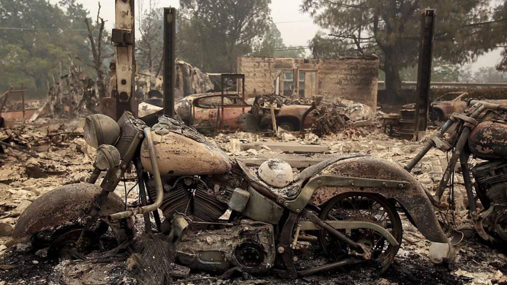 Weltuntergangsszenario im abgebrannten Ort Middletown.