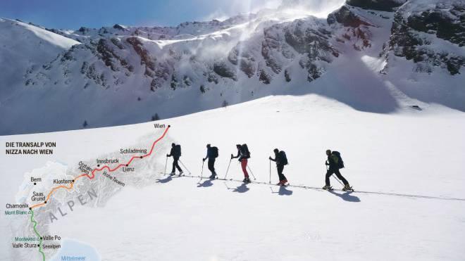 Im Aufstieg auf einen der einsamen Piemonteser Berge. Foto: Olivier Pasche
