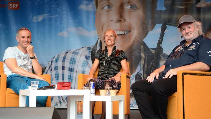 Dani Fohrler (links) im Gespräch mit Natascha Badmann und Peach Weber