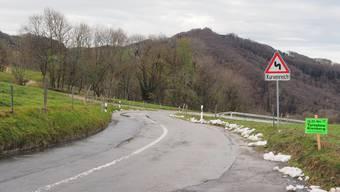 Die Saalstrasse nach Kienberg