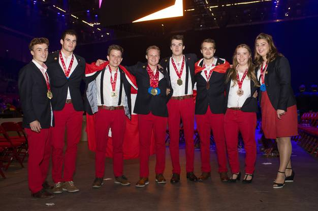 Die Schweizer Delegation an den EuroSkills.