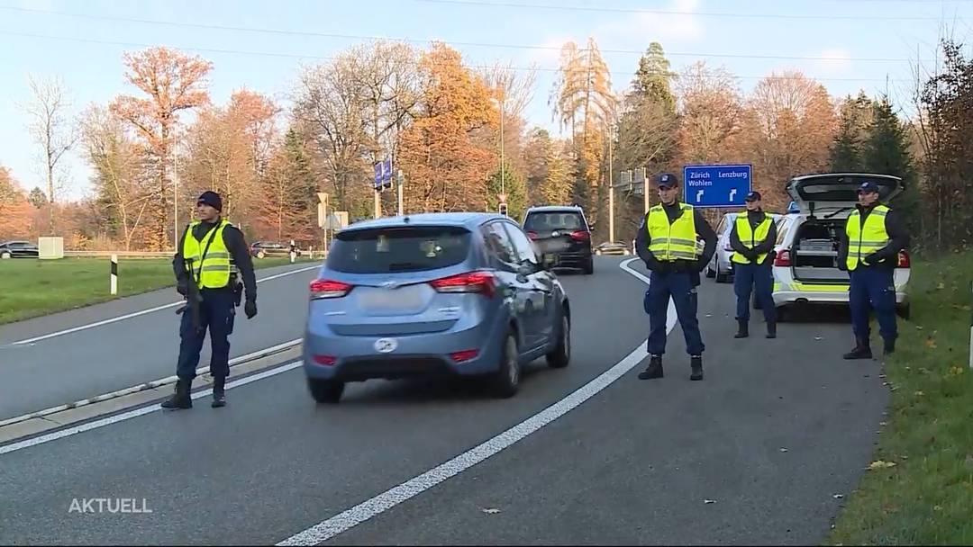 Polizeigrosseinsatz: Über 100 Polizisten sind auf Polizeipatrouille