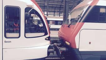 Zugunfall im Bahnhof Luzern