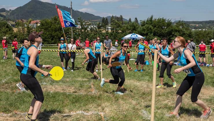 In der Disziplin «Fit+Fun» absolvierten die Turnerinnen sechs Spiele.