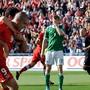 Das Spiel seines Lebens: Eren Derdiyok (Nummer 9) trifft 2012 gegen Deutschland drei Mal.