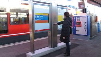 So sieht das neue Fahrgastinformationssystem der Aare Seeland mobil AG aus.