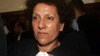 Die bekannte tunesische Menschenrechtsanwältin Radhia Nasraoui ist seit einem Monat im Hungerstreik. Sie protestiert damit gegen die kürzlich eingeschränkten Schutzmassnahmen für ihren Ehemann Hamma Hammami, Sprecher der linken Volksfront. (Archivbild)