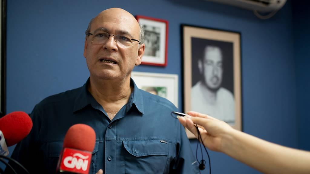 ARCHIV - Angesichts einer Verhaftungswelle gegen Regierungskritiker ist der prominente Journalist Carlos Fernando Chamorro aus Nicaragua geflohen. Foto: Carlos Herrera/dpa Foto: Carlos Herrera/dpa