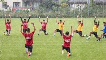 Der FC Aarau trainiert direkt neben den Wohnliegenschaften (Foto vom 12. Juni 2018).