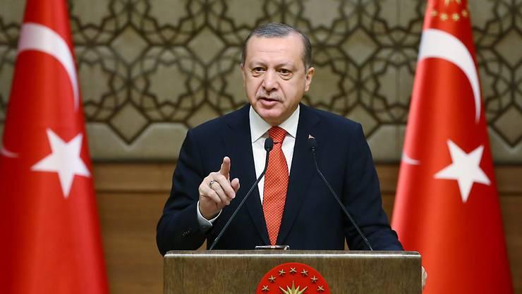 Der türkische Präsident Recep Tayyip Erdogan - seine Behörden greifen seit dem Putschversuch hart durch