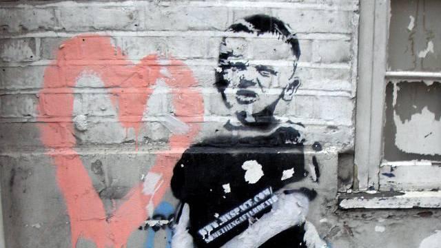 Bild des Strassenkünstlers Banksy in New York. Foto: HO