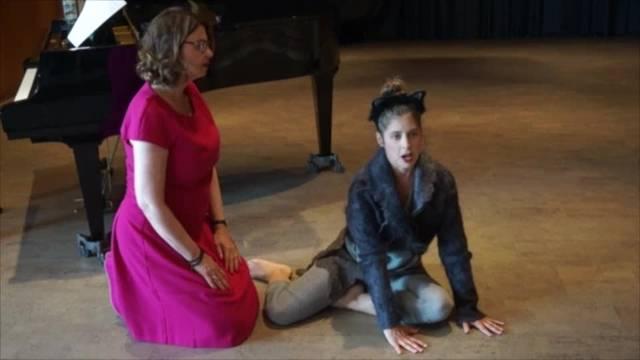 Impressionen aus den Proben fuers Konzert des internationalen Stimmkunst Instituts von Vera Wenkert