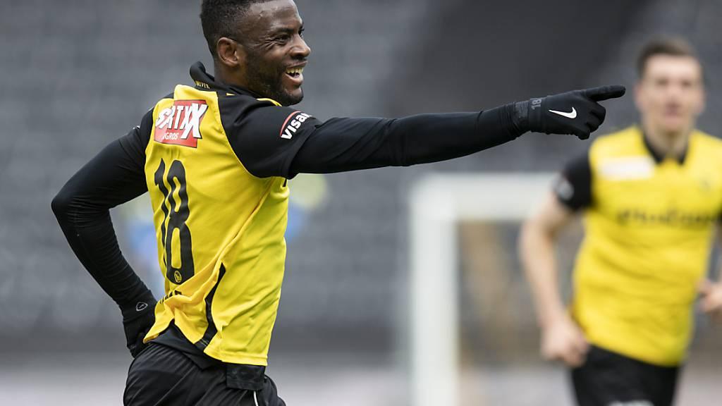 Jean-Pierre Nsame freut sich diebisch nach seinem Tor zum 1:0