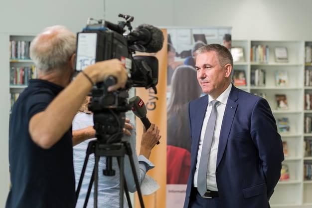 Anlass war die Medienkonferenz zum Schuljahresbeginn 2017/18.