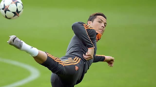 Cristiano Ronaldo muss am Mittwoch aussetzen