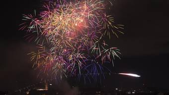 So sah es 2014 über dem Rheinknie aus: Feuerwerk in Basel zum Nationalfeiertag