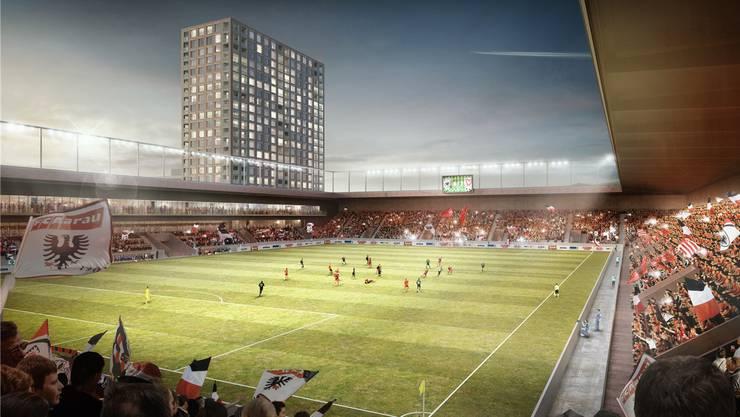 Das Stadion Torfeld Süd in der Visualisierung.