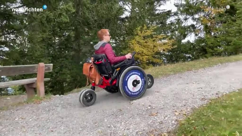 Mit dem Elektro-Rollstuhl auf der Rigi unterwegs