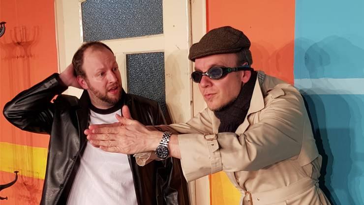Patrick Streit (l.) und David Gnägi in «Lügen haben junge Beine».
