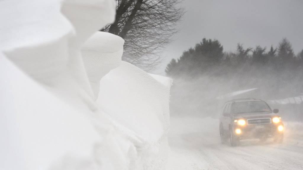 Vorsicht bei der Fahrt im Winter.