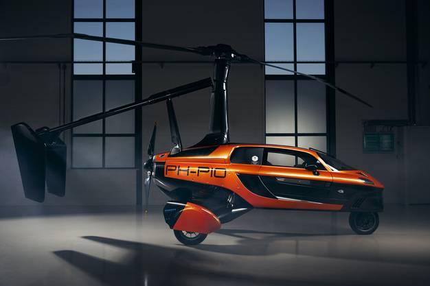 Wenn der Propeller ausgefahren ist, sieht das Flugauto einem Hubschrauber sehr ähnlich.