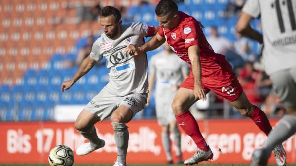 Elsad Zverotic muss mit dem FC Aarau eine bittere 2:5-Klatsche einstecken.