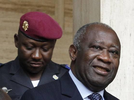 Der Ex-Präsident der Elfenbeinküste, Laurent Gbagbo (r) (Archiv)