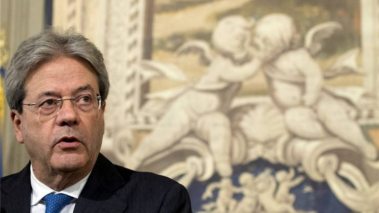 Eine neue Regierung, so schnell wie möglich: Paolo Gentiloni gestern im Quirinalspalast in Rom.