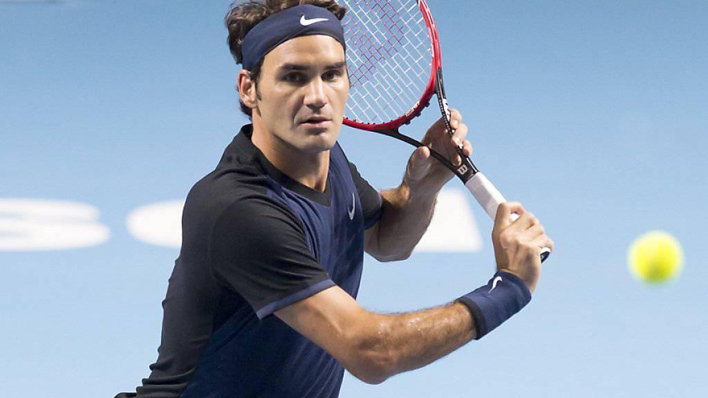 Roger Federer will den Schwung von Basel mitnehmen