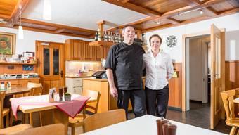 Storchen-Wirtepaar Andreas und Lyuba Berger