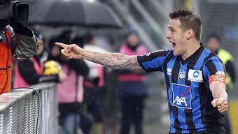 Atalantas German Denis traf gegen Napoli zweimal in die Maschen