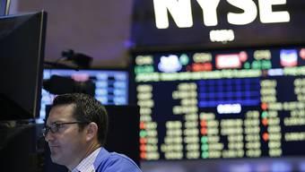 Logo der New Yorker Börse, die am Mittwoh grosse technische Probleme hatte