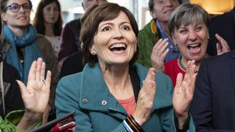 20. Oktober 2019: Die Grünen legen in einem nie erwarteten Ausmass zu und Präsidentin Regula Rytz jubelt.