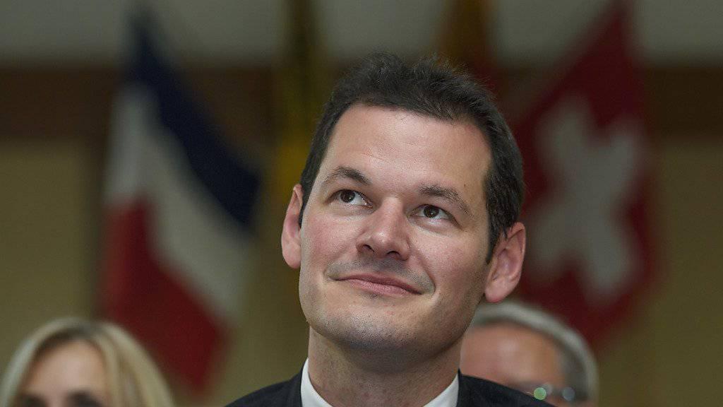 Sollte es mit dem Bundesratsamt nicht klappen, wird Pierre Maudet nächstes Jahr für eine weitere Legislatur in der Genfer Kantonsregierung kandidieren. (Archiv)