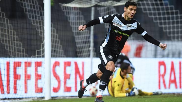 Schiesst den FC Lugano zum Unentschieden gegen Sion: Miroslav Covilo.