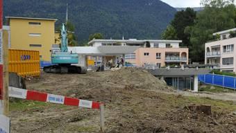 Die Schild-Villa an der Moosstrasse wird abgebrochen, hier werden Mehrfamilienhäuser gebaut. Oliver Menge