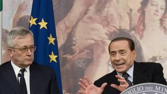 Wollen Italiens Gürtel enger schnallen: Berlusconi und Tremonti