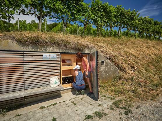 Degustieren entlang des Weges: Der Weinsafe in Weinfelden TG. Bild: zvg