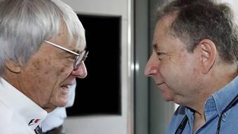 Formel-1-Boss Bernie Ecclestone (links) mit FIA-Präsident Jean Todt