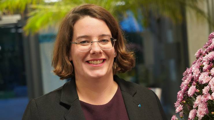 Geht nicht in den zweiten Regierungsratswahlgang, hat aber dank 28 000 Stimmen trotzdem gut lachen: Jeanine Glarner, Grossrätin aus Wildegg.