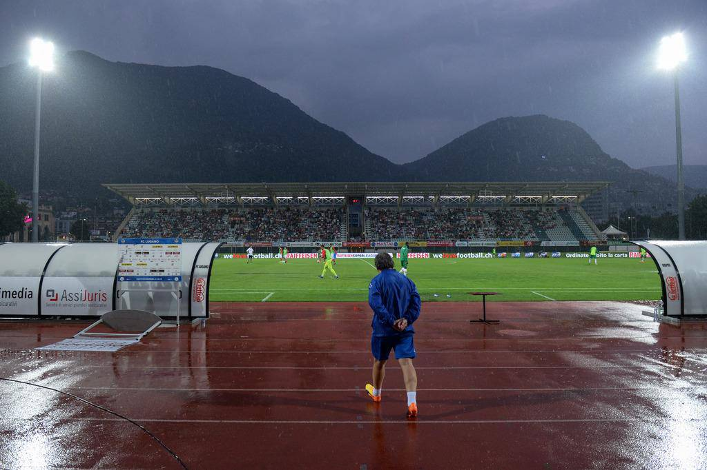 Regen in Lugano