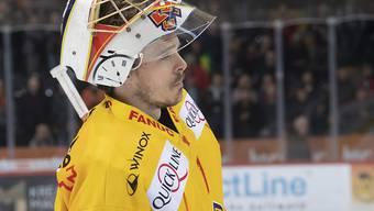 Der Bieler Goalie Jonas Hiller spielt nur noch die nächste Saison